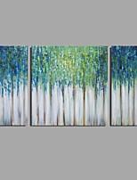 Pintados à mão Abstrato Horizontal,Moderno Clássico 3 Painéis Tela Pintura a Óleo For Decoração para casa