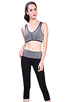 Yoga Sports Bra Breathable Soft Comfortable Stretchy Sports Wear Yoga Exercise & Fitness Women's Fruit Green Violet Blue Gray