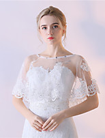 Women's Wrap Capelets Tulle Wedding Party/Evening Lace Rhinestone