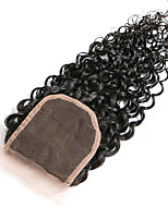 10Inch Braizlian Kinky Curly Closure Best Virgin Brazilian Lace Closure Bleached Knots closures Free/Middle/3Part Closure