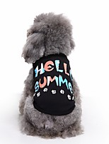 Cat Dog Shirt / T-Shirt Vest Dog Clothes Summer Letter & Number Cute Fashion Casual/Daily Hello Summer Pet Clothes