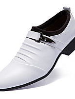 Men's Oxfords Comfort Leather Office & Career Casual Black White
