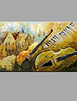 Hand-painted Wall Art Abstrac Home Decor Play Instruments Oil Painting  Stretched Framed Ready to Hang