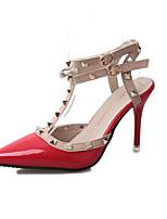 Черный Красный Розовый-Для женщин-Для праздника Для вечеринки / ужина-Лакированная кожа-На шпильке-Формальная обувь-Обувь на каблуках