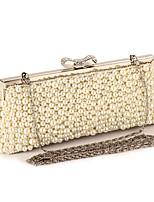 L.WEST Woman Fashion Imitation Pearl Bowknot Evening Bag