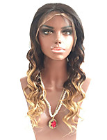 Beata Hair Brazilian 1B/4/27 Natural Wavy Lace Natural Hairline Front Wig Remy Human Hair