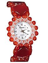 Жен. Модные часы Кварцевый Глубокий зеленый Группа Красный