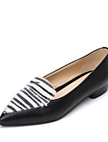Women's Heels Spring Summer Comfort Leatherette Office & Career Dress Casual Low Heel Animal Print Split Joint
