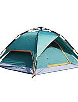 3-4 personnes Tente Unique Tente pliable Deux pièces Tente de camping 2000-3000 mm Fibre de verreRésistant à l'humidité Etanche