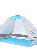 2 Pessoas Único Tenda Automática Um Quarto Barraca de acampamentoCampismo Viajar-Prateado
