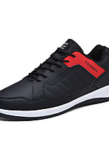 Men's Sneakers Spring Fall Comfort PU Casual Lace-up Black/Blue Black/Red Black/White