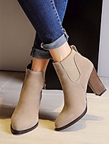 Women's Heels Spring Comfort PU Leather Casual