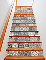 13pcs per Set Staircase  Still Life Wall Stickers 3D Wall Stickers Decorative Wall StickersVinyl Material Home Decoration Wall Decal