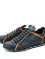 Белый Черный Синий-Для мужчин-Для прогулок Для офиса Повседневный-Полиуретан-На плоской подошве-Удобная обувь Светодиодные подошвы-