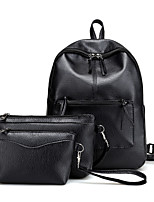 Women Backpack PU All Seasons Formal Casual Outdoor Office & Career Shopping Bucket Zipper Black