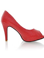 Femme-Décontracté-Blanc Noir Rouge-Talon Aiguille-A Bride Arrière-Chaussures à Talons-Polyuréthane