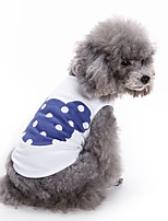Cat Dog Shirt / T-Shirt Vest Dog Clothes Summer Cartoon Cute Fashion Casual/Daily