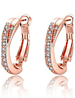 Women's Drop Earrings AAA Cubic Zirconia Basic Unique Design Dangling Style Rhinestone Natural Geometric Square Friendship Fashion