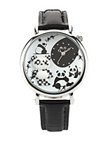Women's Fashion Watch Japanese Quartz / Leather Band Casual Black Brown Black