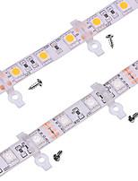 100 pack -strip светлый монтажный кронштейн для наружного силиконового покрытия 10 мм широкоформатный водонепроницаемый smd5050