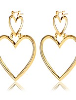 Drop Earrings Heart Alloy Heart Silver Gold Jewelry For Birthday Daily Office & Career 1 pair