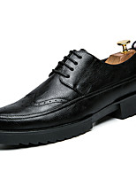 Men's Oxfords Spring Fall Comfort PU Outdoor Casual Black Brown Army Green