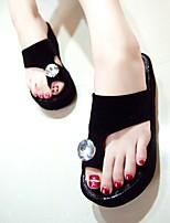 נשים-כפכפים & כפכפים-PU-רצועה אחורית-לבן שחור אדום-יומיומי-עקב עבה