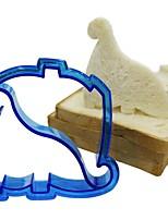 2Pcs  Bread Decorated Tools  Dolphins And Dinosaur Cut Bread Mold Random  Color