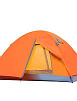 2 человека Световой тент Двойная Складной тент Однокомнатная Палатка 2000-3000 мм Стекловолокно ОксфордВлагонепроницаемый