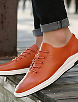 Men's Sneakers Comfort Fabric Casual Khaki Orange Black
