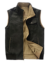Men's Vest/Gilet Camping / Hiking Thermal / Warm Dust Proof Spring Fall/Autumn