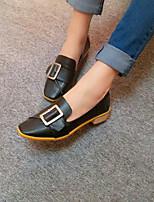 Черный Желтый-Для женщин-Повседневный-ПолиуретанУдобная обувь-Мокасины и Свитер