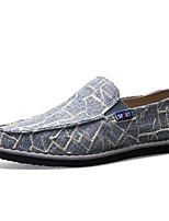 Светло-синий Темно-русый Хаки-Для мужчин-Для прогулок Повседневный-ПолиуретанУдобная обувь-Кеды