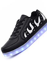 Herren-Sneaker-Lässig-Leder-Flacher Absatz-Light Up Schuhe Luminous Schuh-