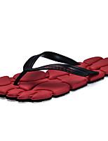 Men's Slippers & Flip-Flops Summer Slingback Comfort Light Soles PU Casual Flat Heel Blue Red Brown Black
