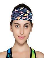 Двусторонняя шапка Шапки Жен. Впитывает пот и влагу Удобный для Йога Спорт в свободное время Бег
