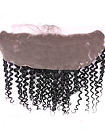 13x4 Lace Frontal Closure with Baby Hair Brazilian Virgin Human Hair 8-18inch Natural Black Lace Frontal with Blenched Knots Natural Hairline Closure