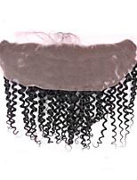 fechamento frontal 13x4 renda com cabelo do bebê brasileiro do cabelo humano 8-18inch frontal preto natural virgem rendas com nós