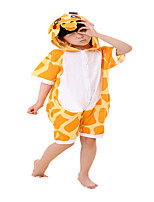 kigurumi Pyjamas Girafe Collant/Combinaison Fête / Célébration Pyjamas Animale Halloween Orange Rayé Coton Costumes de Cosplay Pour