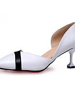 Mujer Sandalias Confort PU Verano Exterior Paseo Tacón Bajo Blanco Negro Menos de 2'5 cms