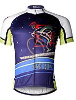 ILPALADINO Camisa para Ciclismo Homens Manga Curta MotoRespirável Secagem Rápida Resistente Raios Ultravioleta Compressão Materiais Leves