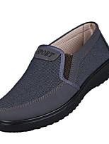 Mokasen & Bağcıksız Ayakkabılar-Açık Hava Rahat-Rahat-Kanvas-Dolgu Topuk--Erkek