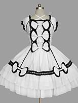 Une Pièce/Robes Gothique Sexy Cosplay Vêtrements Lolita Couleur Pleine Nœud papillon Mancheron Sans Manches Court / MiniSmoking