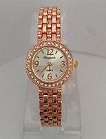 Women's Women Bracelet Watch Quartz Alloy Band Casual Rose Gold