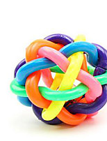 Cat Toy Dog Toy Pet Toys Ball Squeak / Squeaking Durable Elastic Bell Plastic