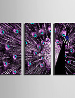 Animal Moderne Style européen,Trois Panneaux Toile Verticale Imprimer Art Décoration murale For Décoration d'intérieur