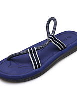 Men's Slippers & Flip-Flops Summer Comfort PU Outdoor Khaki Blue Brown Black