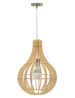 Pendant Light ,  Modern/Contemporary Vintage Lantern Country Island Wood Feature for Designers Wood/BambooLiving Room Bedroom Dining Room