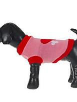 Hunde Pullover Hundekleidung Winter Karton Modisch Lässig/Alltäglich Rot