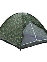 3-4 Pessoas Tenda Duplo Tenda Dobrada Um Quarto Barraca de acampamento 2000-3000 mm Fibra de Vidro OxfordÁ Prova de Humidade